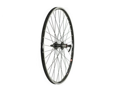 RALEIGH 700C REAR TREKKING DISC WHEEL 700C, 8/9 SPD CASSETTE, BLACK (QR)