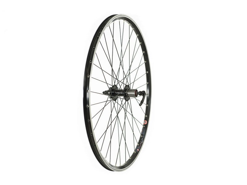 RALEIGH 700C REAR TREKKING DISC WHEEL 700C, 8/9 SPD CASSETTE, BLACK (QR) click to zoom image