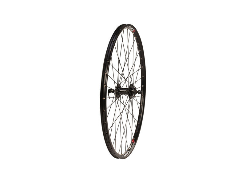 "RALEIGH 27.5"" TRU BUILD FRONT WHEEL Q/R click to zoom image"