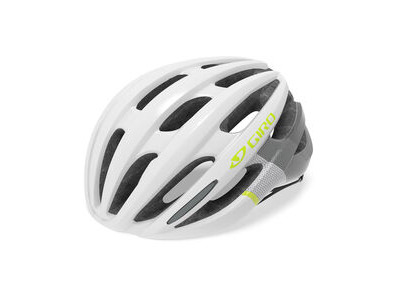GIRO SAGA WOMENS ROAD HELMET Small White/Grey/Citron  click to zoom image