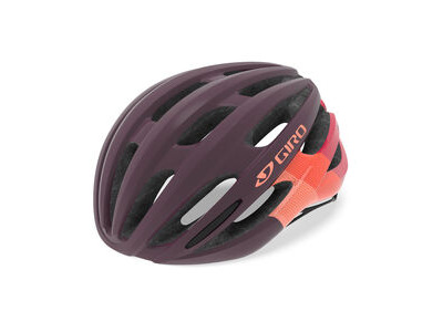 GIRO SAGA WOMENS ROAD HELMET Small Dusty Purple Bars  click to zoom image
