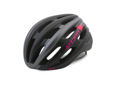 GIRO SAGA WOMENS ROAD HELMET Small Black/Pink  click to zoom image