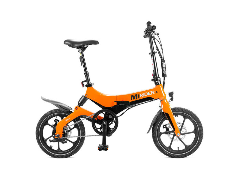 MiRIDER FOLDING E-BIKE ORANGE click to zoom image