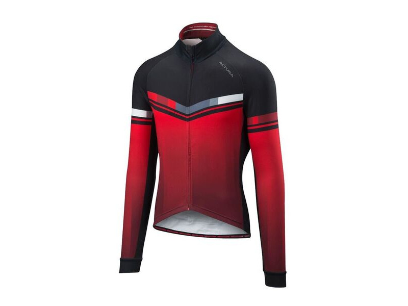 ALTURA Thermo Invader Long Sleeve Jersey : Red/black click to zoom image