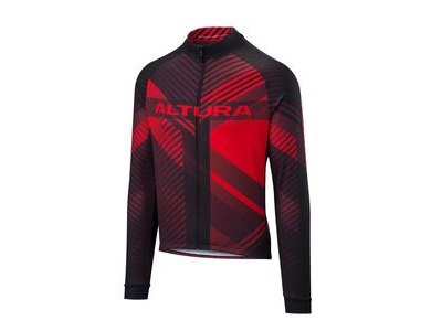 ALTURA Team Long Sleeve Jersey : Red/black