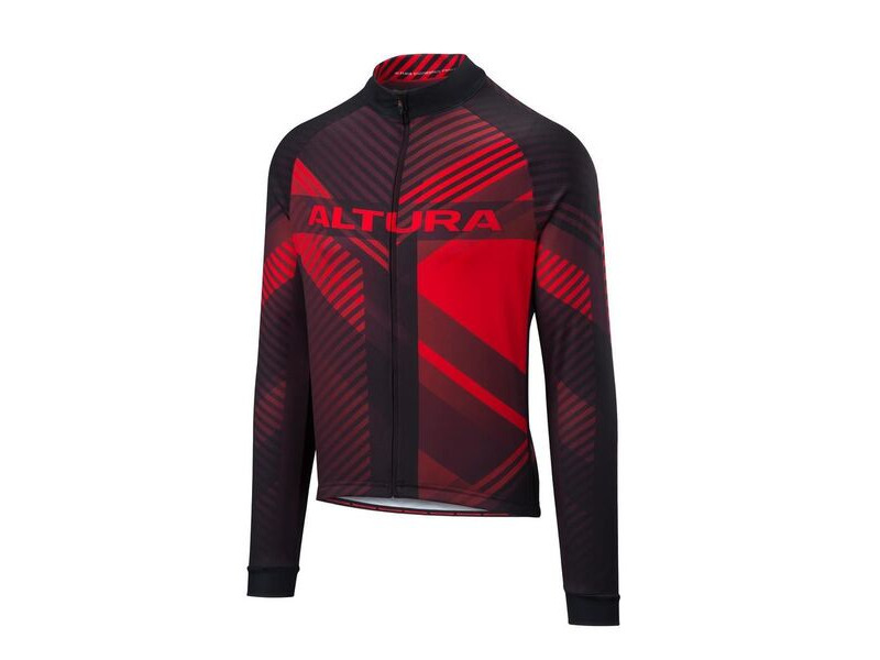 ALTURA Team Long Sleeve Jersey : Red/black click to zoom image